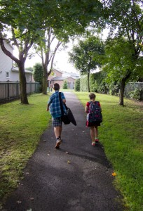 First walk to school this year.